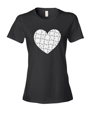 2017 Fashion  Short O-Neck- Heart Puzzle Autism T-Shirt
