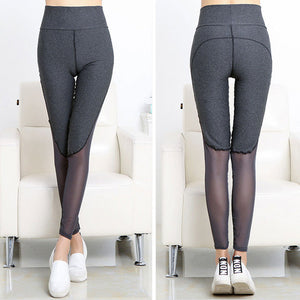 Women Yoga Leggings Skinny Mesh High Waist Running Sports Pants -  Autastic Shop of Wonders
