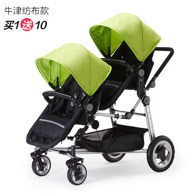 Kds Twins Baby Stroller Double Front And Rear Folding Accessories European Baby Strollers
