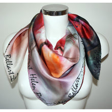 Blooming cherry tree silk scarf 90x90 - Nail-itious