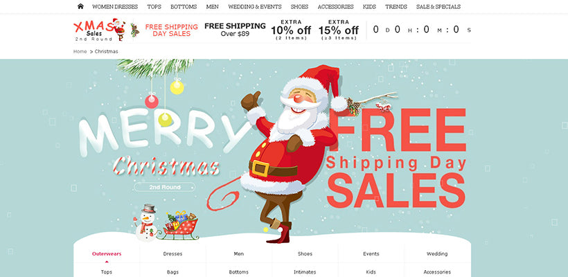 5 best christmas landing page templates for shopify - Best Day After Christmas Sales