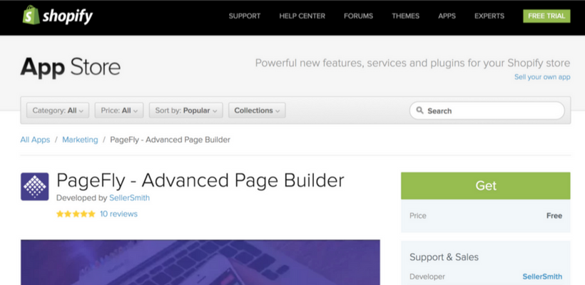 PageFly Page Builder App Is Approved On Shopify App Store PageFly - Shopify custom page template
