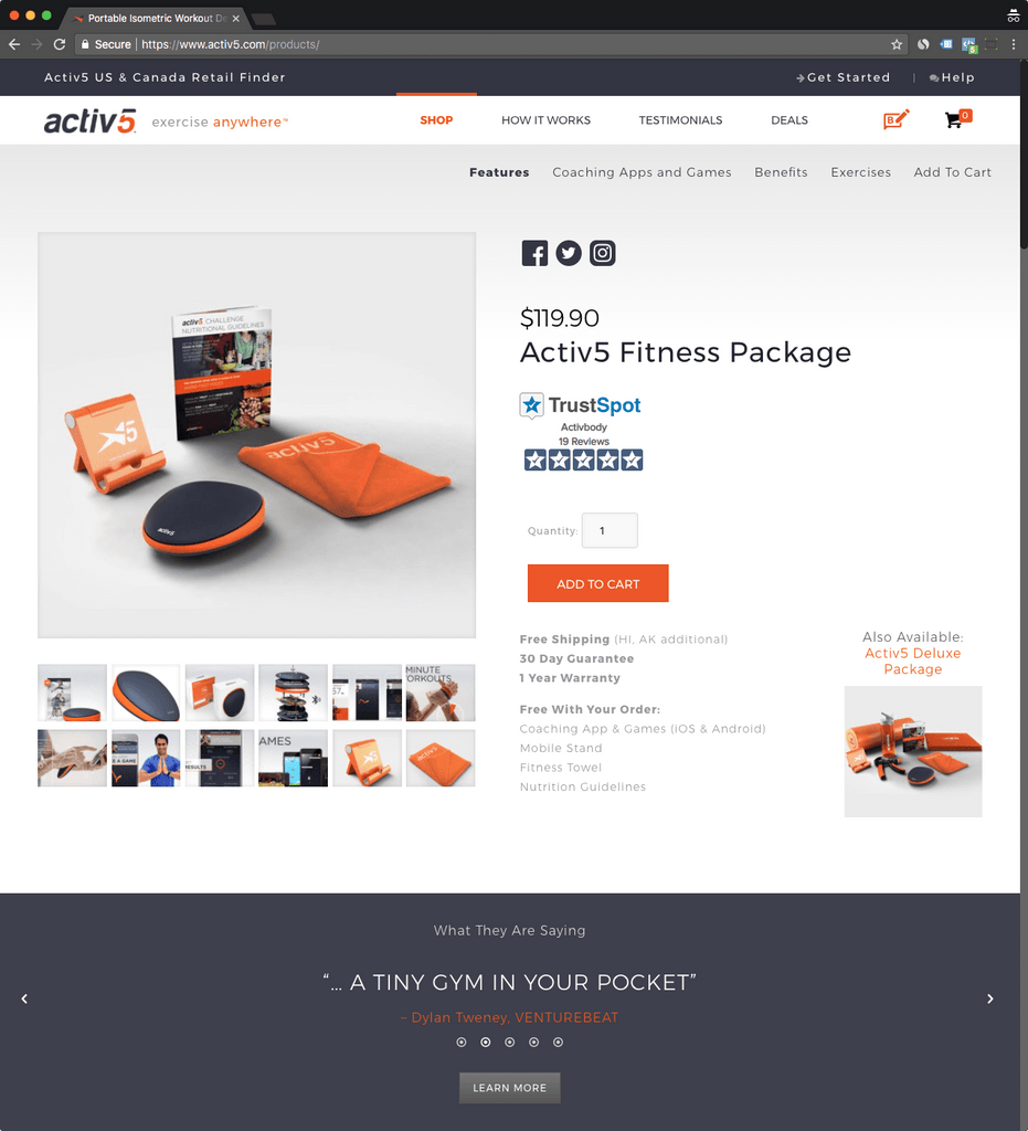 activ5 product page