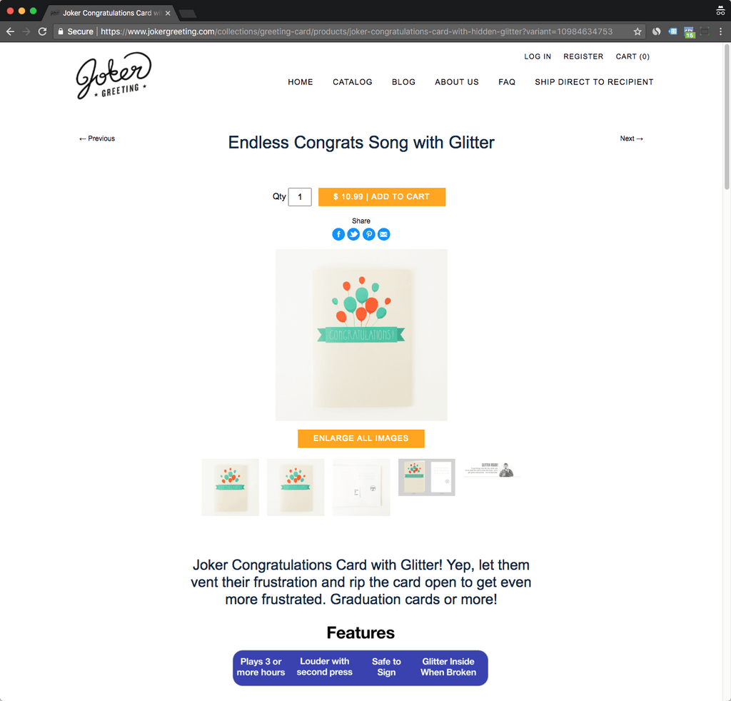 jokergreeting product page