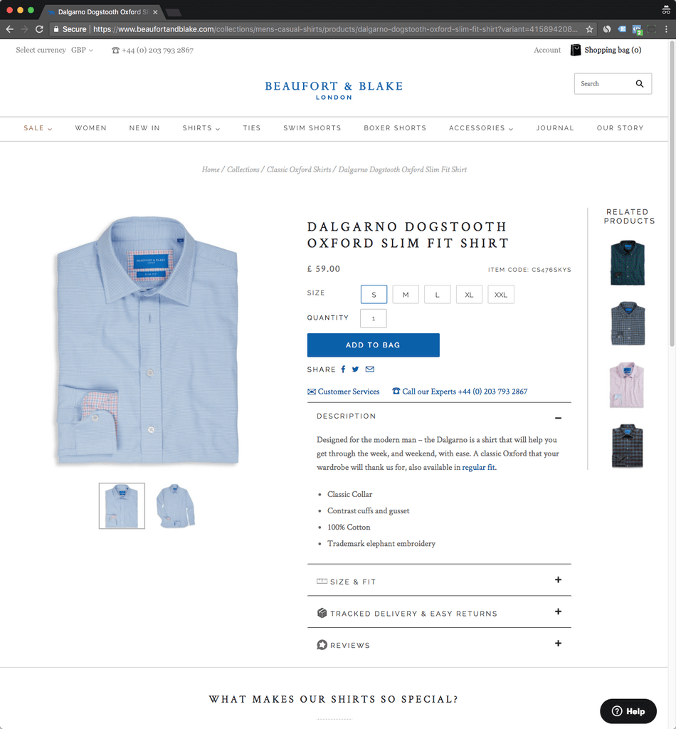 beaufortandblake product page