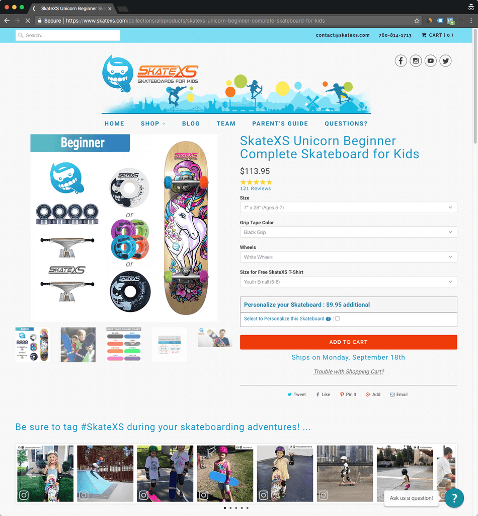 skatexs product page