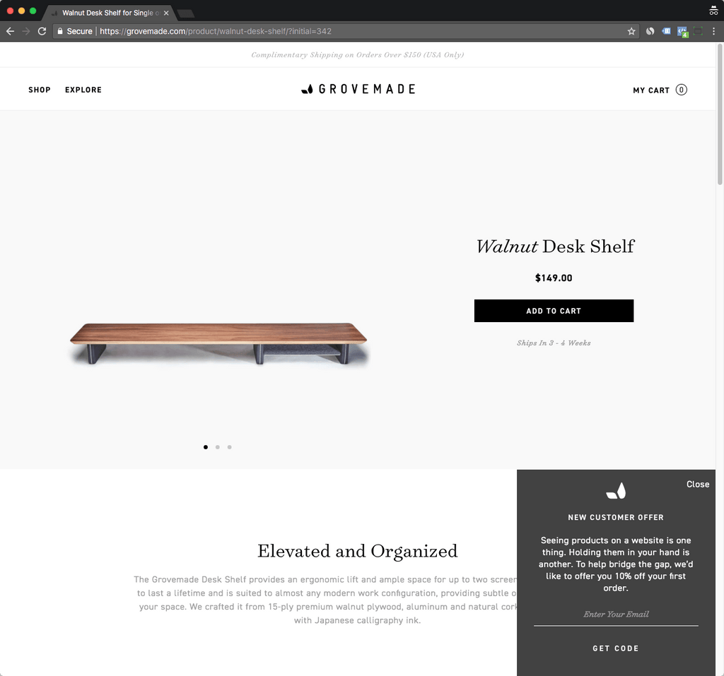 grovemade product page