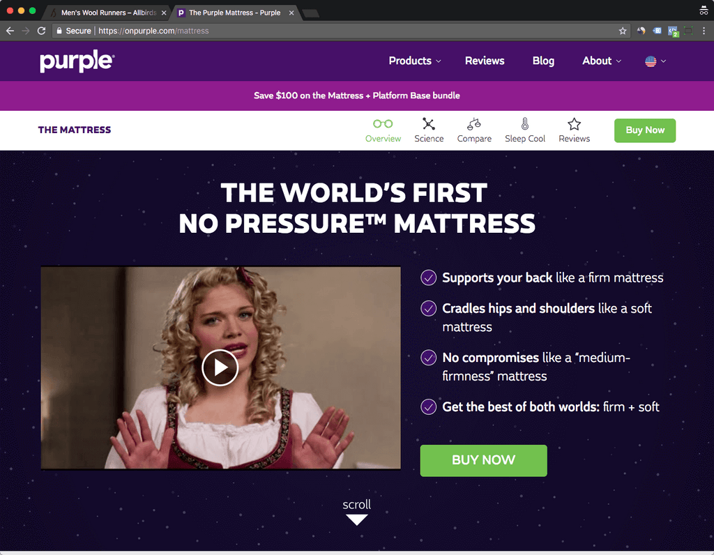 onpurple product page