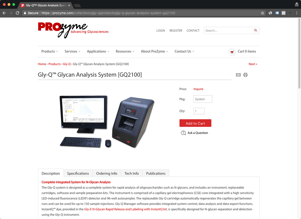 Prozyme product page
