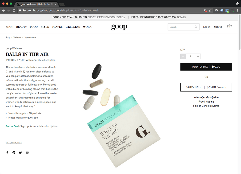 goop product page