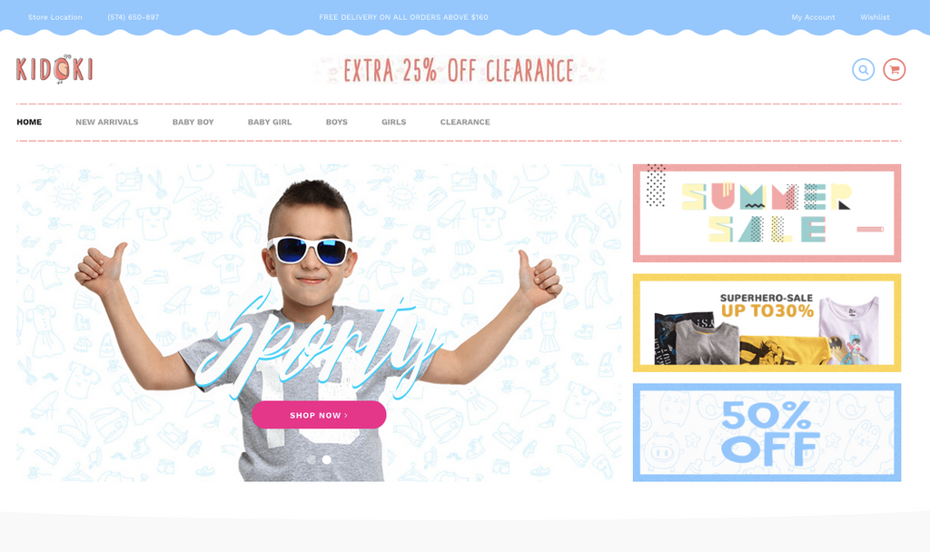 Shopify baby store theme