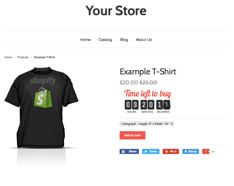 Shopify conversion rate optimization - countdown clock
