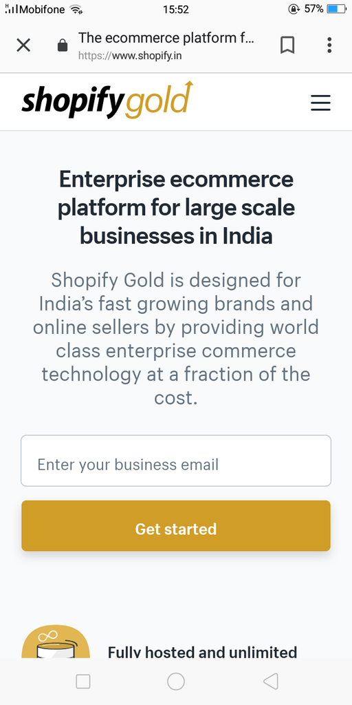 shopify india mobile