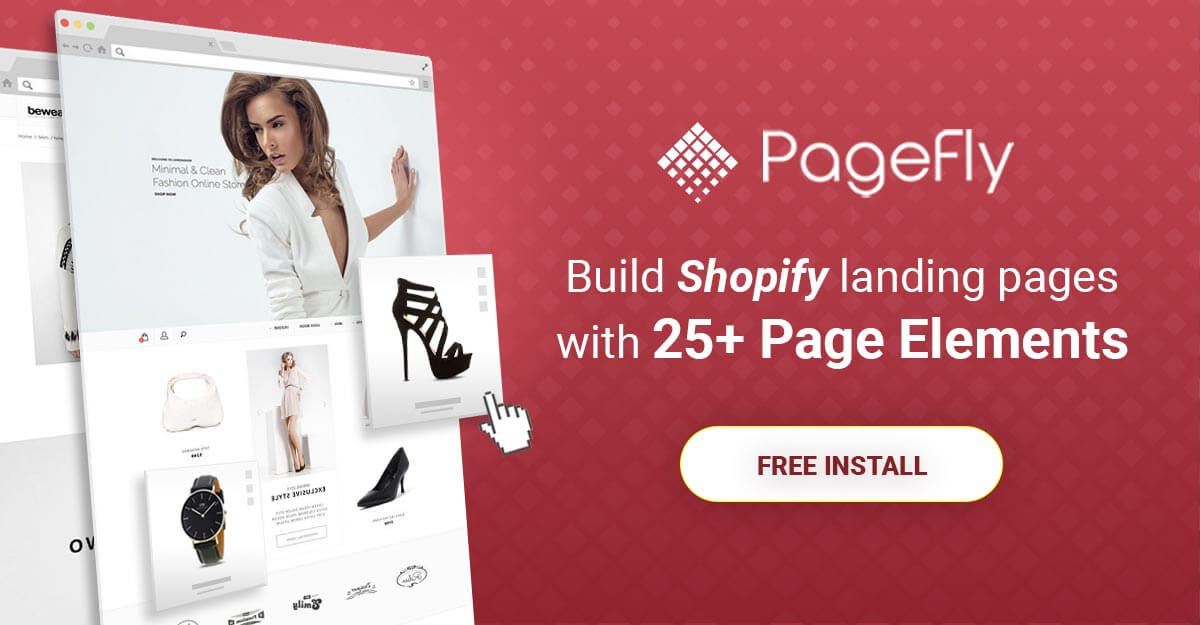 Shopify conversion rate optimization - banner with button