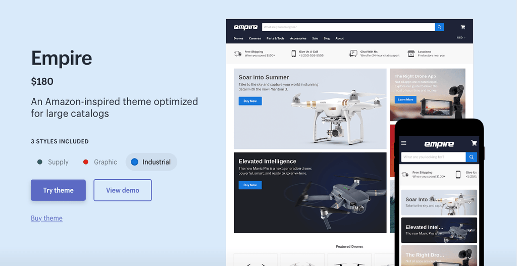 empire shopify theme