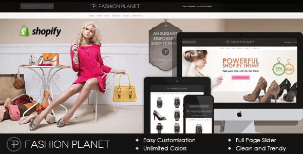 fashion planet shopify theme from themeforest