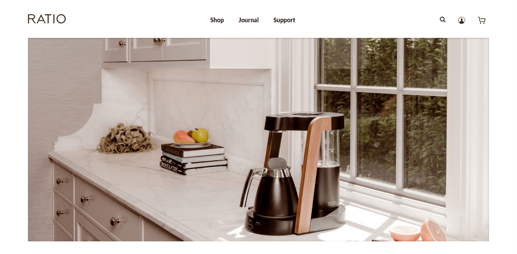 Ratio Coffee Home Page