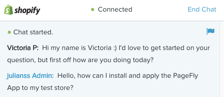 shopify chat victoria