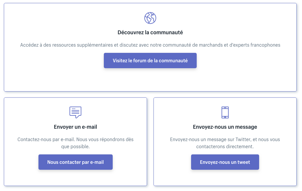 shopify french support