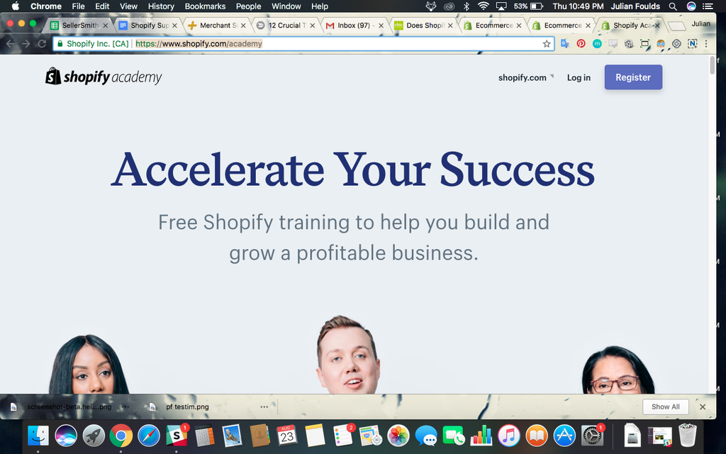 shopify academy yea