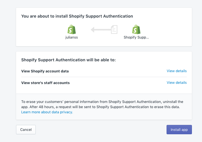 shopify chat download