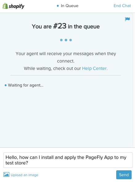 shopify chat queue 2