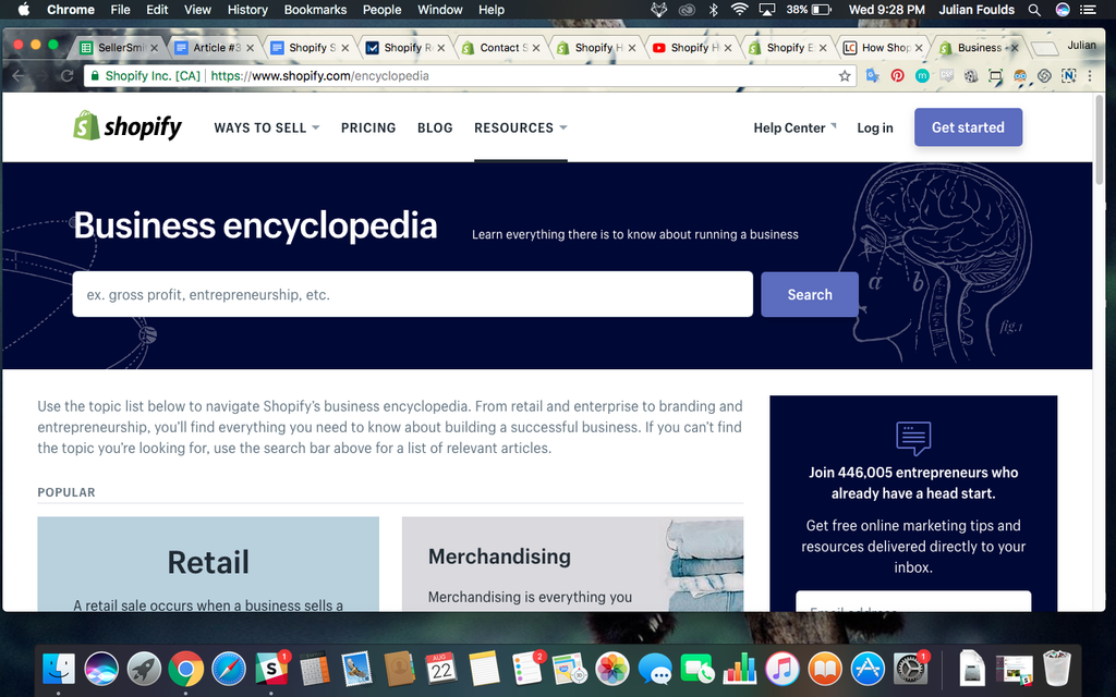 shopify business encyclopedia