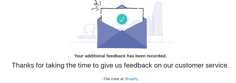 shopify feedback thanks
