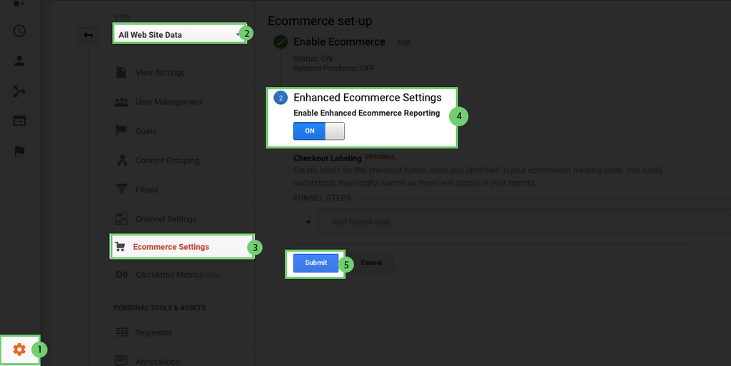 enabled enhanced conversion tracking shopify on google analytics