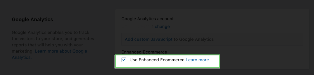 setup enhanced Google analytics tracking on Shopify