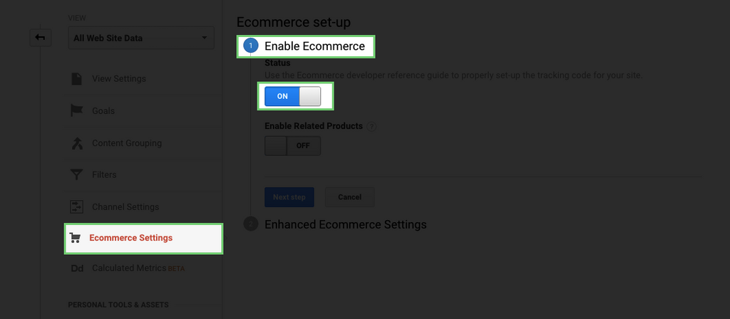 enable basic Shopify tracking on Google Analytics