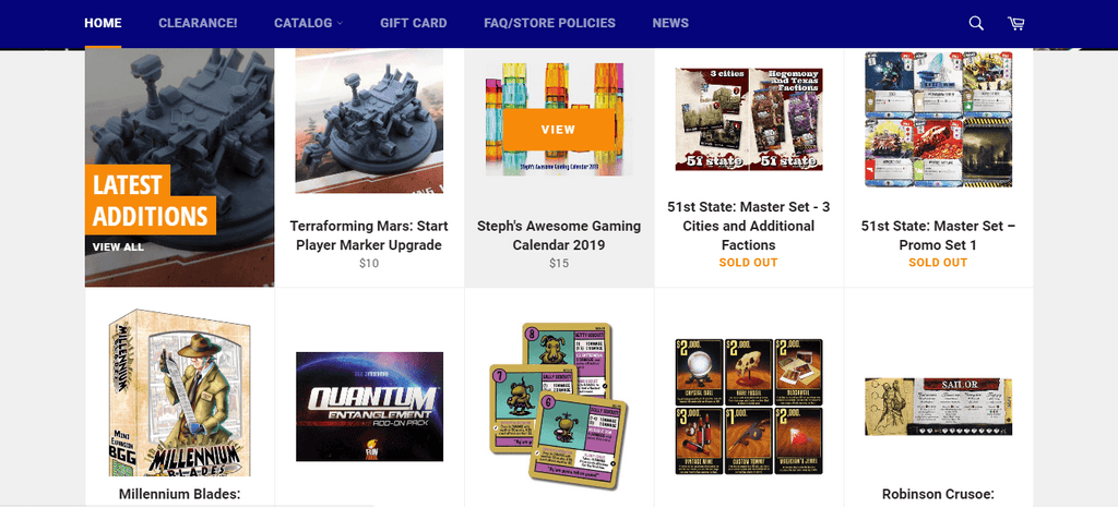 Board Game Geek Collection Page