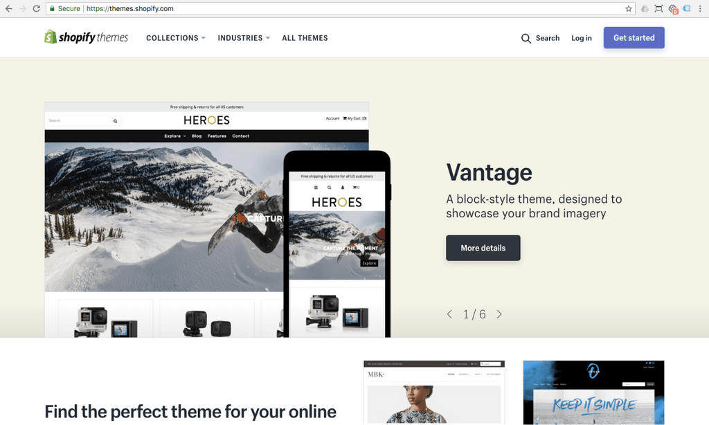 shopify themes marketplace