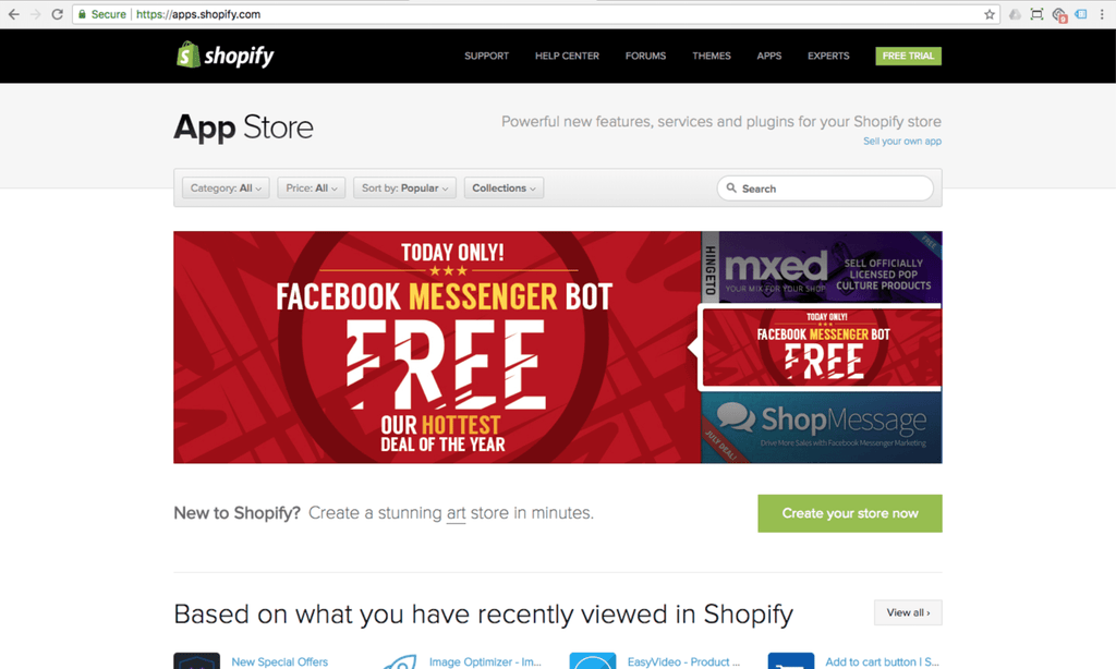 shopify apps marketplace