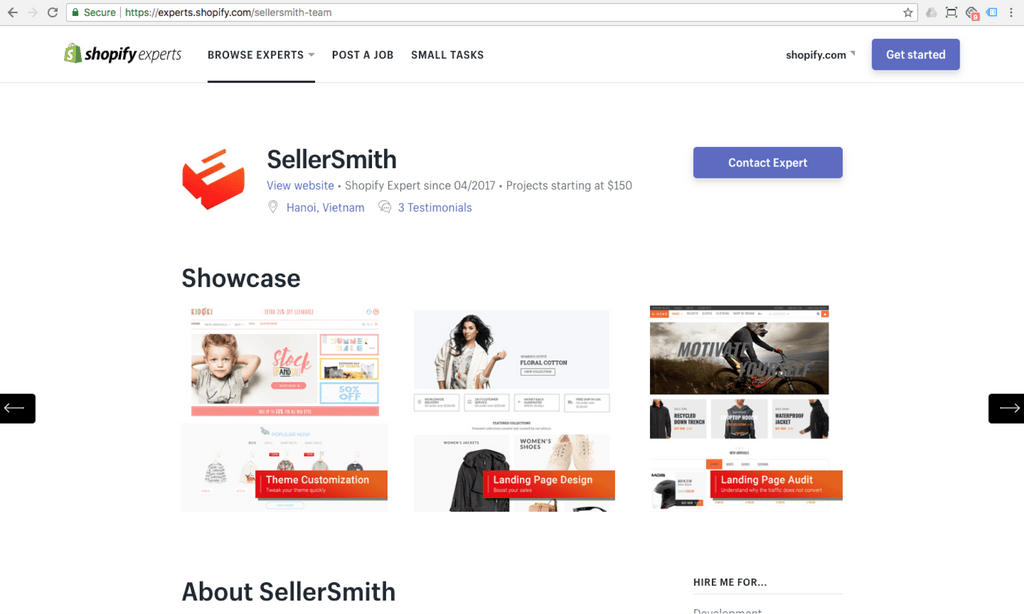 shopify expert profile sellersmith team - creator of pagefly shopify page builder app