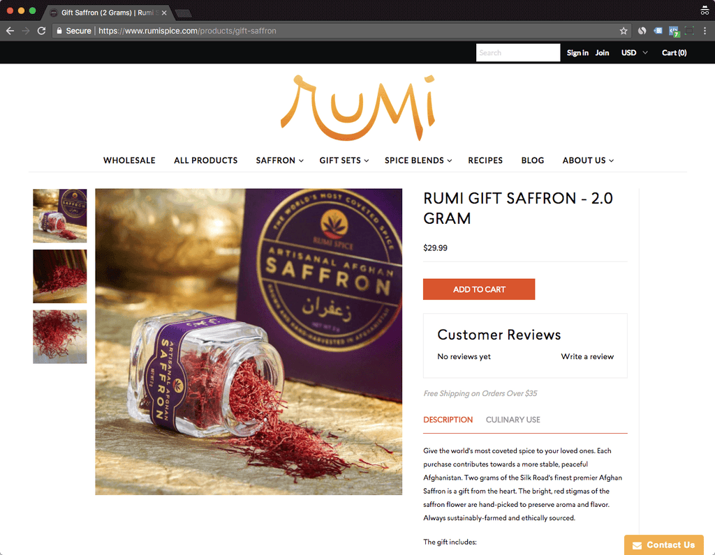 rumispice product page