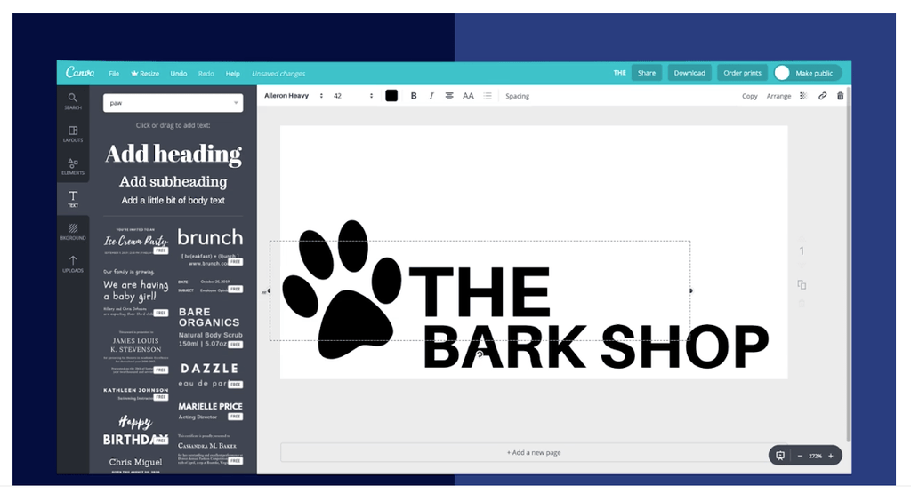 the bark shop shopify example