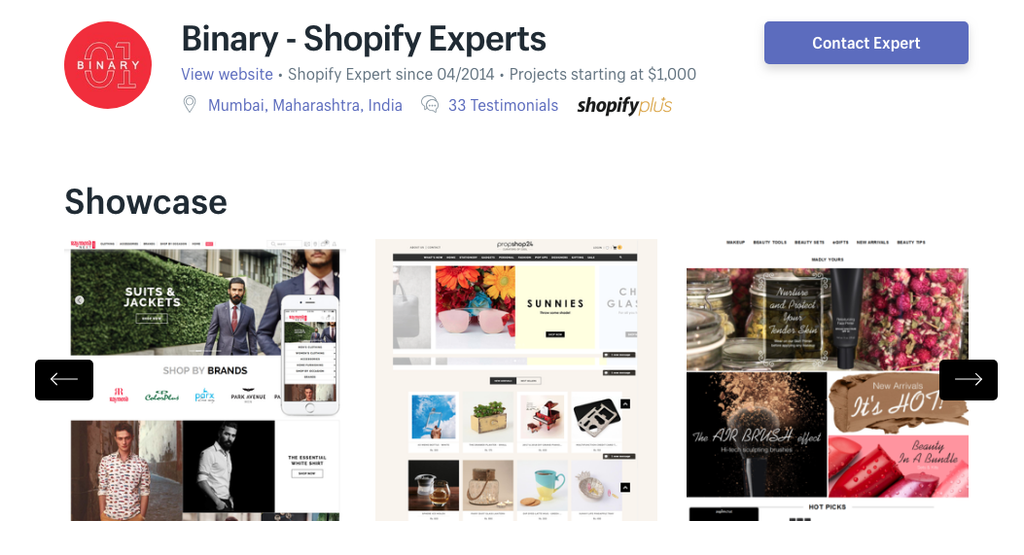 shopify india binary