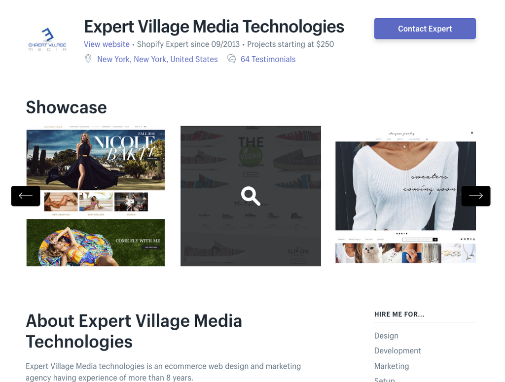shopify india expert village