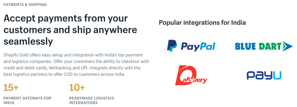 shopify india payment gateways