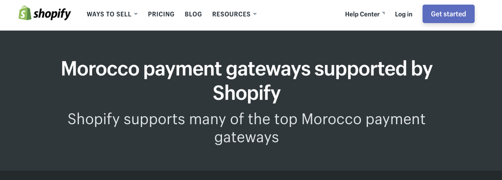 morrocan shopify payment