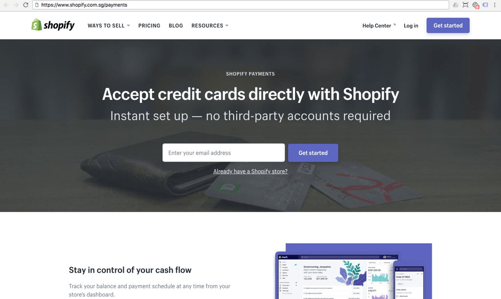 shopify payments singapore