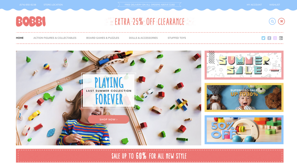 Baby Store shopify theme preview