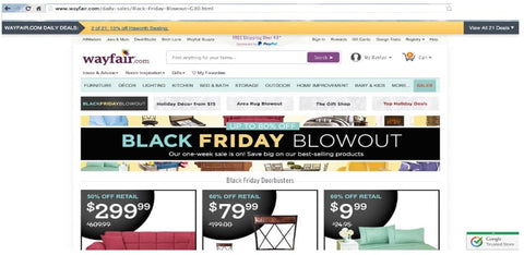 Wayfair-holiday-website