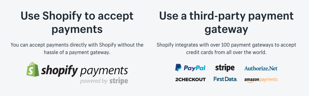 shopify payments gateways