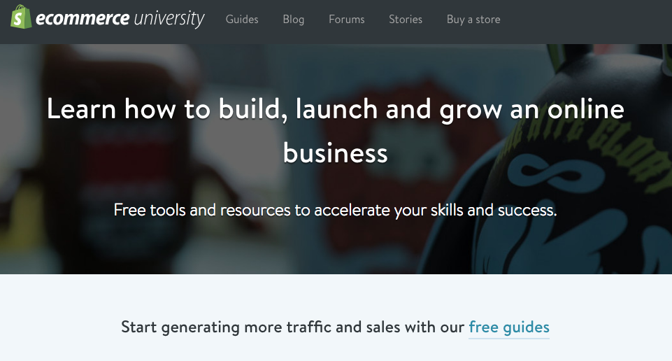 shopify ecommerce university