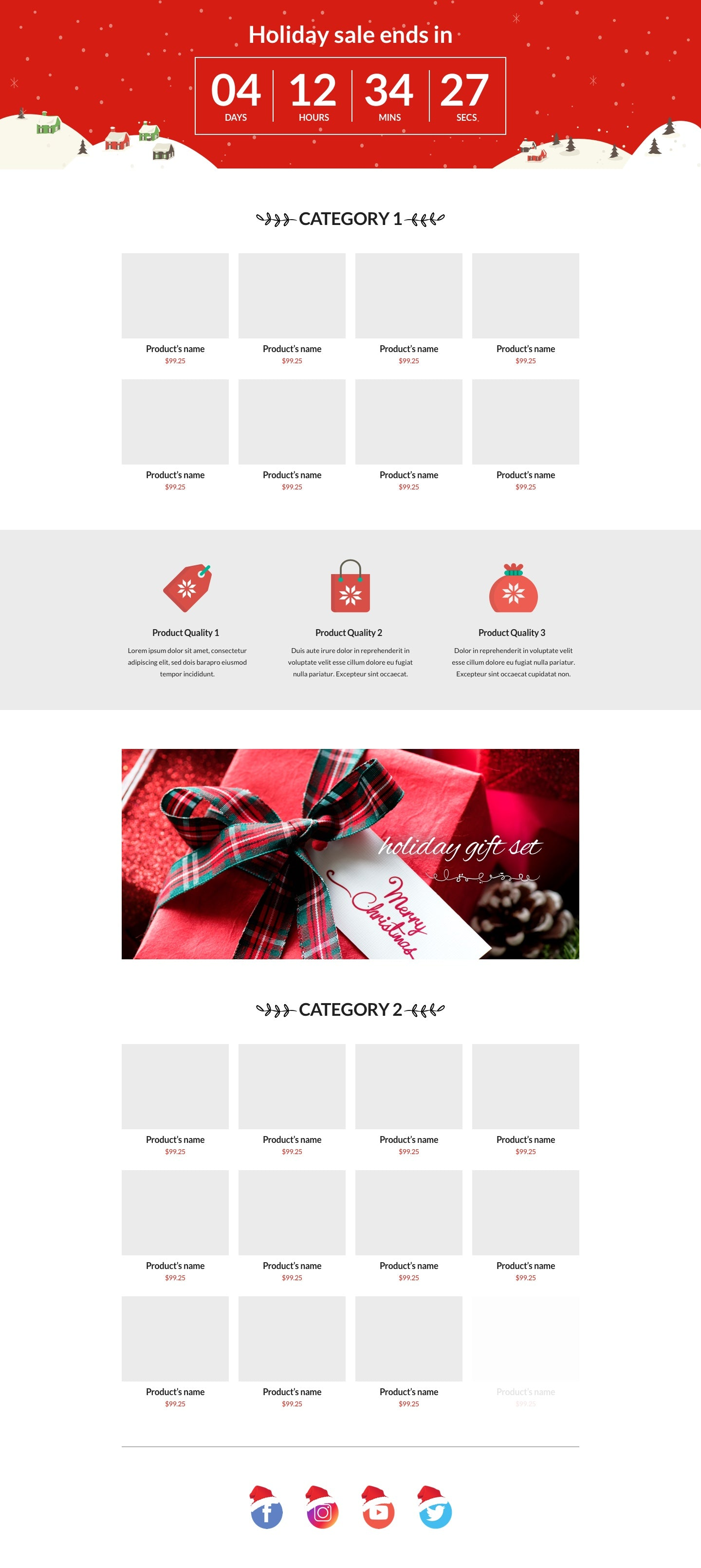 5 best Christmas landing page templates for Shopify