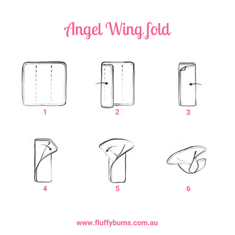 angel wing fold