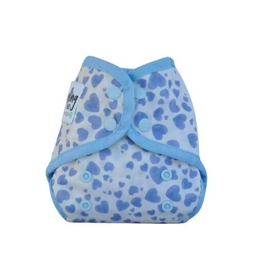 Seedling Baby Comodo Wrap Mini Blue Hearts