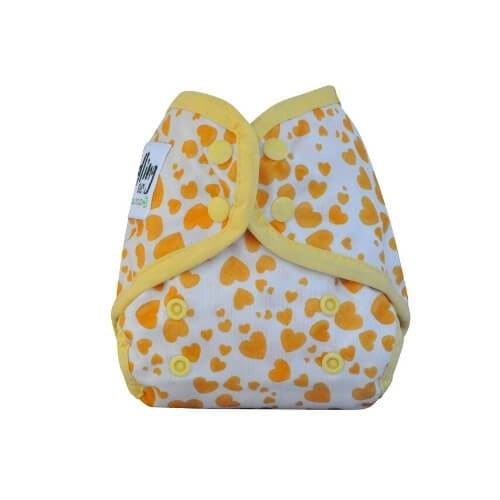 Seedling Baby Comodo Wrap Mini Yellow Hearts